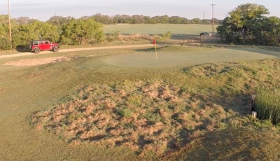 Hog damage on golf course - SHWAT